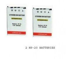 TWO 2 NP-20 NP-20DBA Batteries for Casio EX-M1 EX-M2 EX-M20 EX-S1 EX-S100 EX-S20