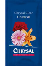 CHRYSAL CLEAR UNIVERSAL - FLOWER FRESH - FLOWER FOOD - 5 SACHETS  x 1 LITRE