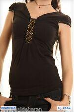 Top  Maglietta Donna Maniche Corte T-Shirt ZONA BRERA 1006-A073 Tg L