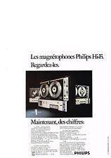 PUBLICITE  1970   PHILIPS  magnétophone & platine