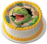 DINOSAUR T-REX 7.5 PREMIUM Edible ICING Cake Topper CAN PERSONALISED D2
