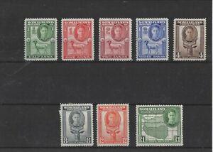 SOMALILAND , 1942, SG105/109 & SG112/13 TYPE 7,8,9   , MH   CV £14.00+