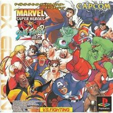 F/S Used PS1 Marvel Super Heroes vs. Street Fighter: EX Edition Japanese Ver @