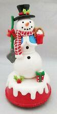 "Snowman Resin Figurine Christmas 7"" Decor Musical Table Piece Kurt Adler"