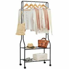 Topnew Clothing Garment Rack Heavy Duty Clothes Rack Commercial Grade Rolling