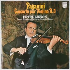 PAGANINI: Concerto for Violin, Szeryng PHILIPS 6500 175 Holland LP NM