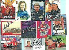 11 Card  -  Autographed Lot - (2) Dale Jr / Donnie Allison / Rusty Wallace + 7