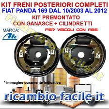 KIT FRENO POSTERIORE COMPLETI FIAT PANDA 169 1.2 NATURAL POWER METANO GANASCE