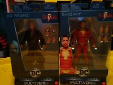"DC Multiverse Shazam & Dr. Sivana 6"" Movie Action Figures Set. (Lot of 2) 2018"