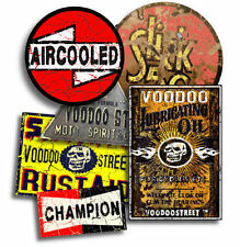 RAT ROD, VW, STICKER PACK BY VOODOO STREET™, waterproof vinyl, quality, unique