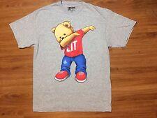 Lit Polo Bear T Shirt Men's Large 90s Fashion RL Heather Grey
