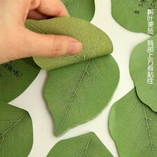 """100pcs Sticky Notes POST-IT Memo Pad Ideal Exquisite """"Leaf-it"""" Leaves Note Green"""