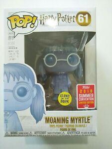 Funko pop vinyl figure #61 Moaning Myrtle ghost Harry Potter exclusive