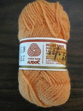 Five One Oz. Balls Ladyship Safari Double Crepe Wool Yarn Orange NOS #1003