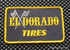 """EL DORADO TIRE EMBROIDERED SEW ON PATCH RACE FLAGS ADVERTING 3 7/8"""" x 2 1/2"""""""