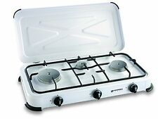 Kemper fornello a gas 3 fuochi professionale x campeggio cucina acciaio inox new