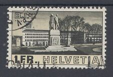 1938 SVIZZERA USATO 1F internazionale del lavoro di ufficio di presidenza (timbro SG 385)
