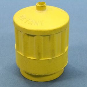 Yellow High Visibility Weather Resistant Boot for 15A Locking Connectors 5200BCR