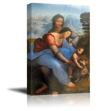 "The Virgin and Child with St. Anne by Leonardo da Vinci - Canvas Print-24"" x 36"""
