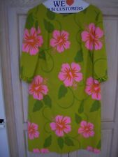 Malihini Designers Collection(Hawaii)Vintage Floral Dress w Ruffled Flare Sleeve
