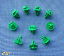(2157) 10x Verkleidung Abdeckung Clips Befestigung Klips Halter für Audi grün