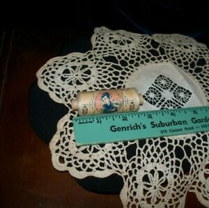 ANTIQUE SILK BASTING ? THREAD - FASCINATING TUBE- FRENCH WORDING- VERY OLD L@@K
