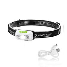 Head Torch Rechargeable, Lightweight Torches IPX6 Running head torch