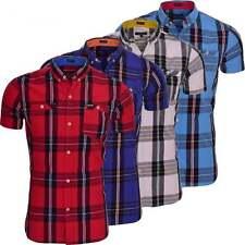 Firetrap Men's Slim Short Sleeve Casual Shirts & Tops