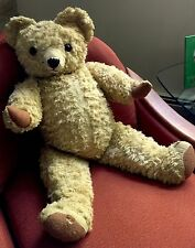 "Chad Valley Teddy Bear 29"" Mohair Jointed Vtg 60s England Authenticated"