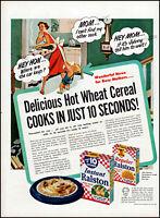 1952 Mom son breakfast Ralston Hot Cereal kitchen vintage art Print Ad adL2