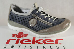 Rieker Slippers Sneakers Low Shoes Trainers Ballerina Blue L3296 Memosoft New