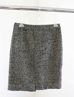 J Crew Womens the Pencil Skirt Metallic Shimmer Tweed Size 2 Wool Blend Black