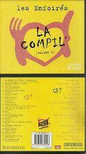 LES ENFOIRES : LA COMPIL 2 - BEST OF ( 2 CD ) RENAUD CELINE DION CABREL MUVRINI