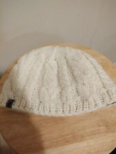 The North Face Cream White Unisex One Size Wool Blend Cable Knit Winter Hat