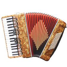 Rossetti 34 Key 72 Bass 5 Switch Piano Chromatic Accordion Pearloid Tiger + Case