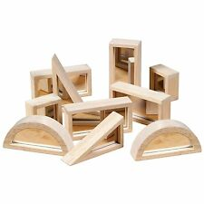 Guidecraft G3017 Mirror Hardwood Blocks For Kids Play, 10 Piece Set Age 2yr & Up