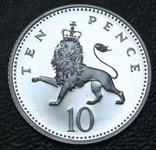 1996 GREAT BRITAIN - TEN PENCE .925 SILVER PROOF - Nice Low Mintage