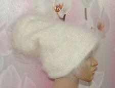 bean Hat Cashmere Mohair Angora not alpaca fluff hat Goat Fur Organic FETISH