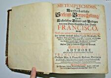 1709 Extremely rare antique book German Gothic metempsychosis franscisco caccia