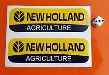 2 x New Holland stickers autocollants 150 mm x 45 mm tracteur agriculture