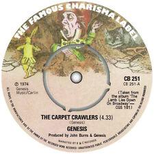 Genesis. Repro record label sticker. The Carpet Crawlers. Prog. Charisma