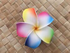 Hawaiian Plumeria Foam Flower Hair CLIP White Yellow Pink Blue Yellow Rainbow