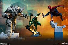 MARVEL Spider-Man, Rhino & Scorpion Collectible Set PCS Sideshow 1:12 PVC Statue