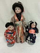 3 Asian Porcelain Dolls big 10 lbs. Japanese Japan Asian Cathy Campbell Weisman