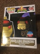 "FUNKO DRAGONZORD BLACK GOLD 6"" POP TOY TOKYO EXCLUSIVE POWER RANGER NYCC 2017"