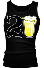21st Happy Birthday Drinking Drunk Party Beer Shenanigans Boy Beater Tank Top