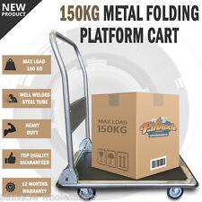 NEW 150KG Platform Trolley Heavy Duty Fold Cart Moveable Dolly Push Hand Truck