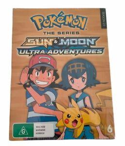 Pokemon The Series Sun & Moon Ultra Adventures Season 21 DVD New R4, 6 Disk's