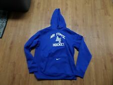 eeuc mens nike therma fit air force hockey hoodie-blue-size large