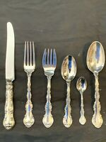 STRASBOURG BY GORHAM STERLING FLATWARE SET FOR 4 by 6 WITH OVAL SOUPS  POLISHED